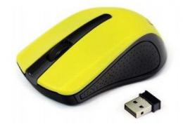 MUSW-101-Y Gembird 2.4GHz Bezicni mis opticki USB 1200Dpi yellow
