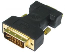FAST ASIA Adapter DVI-I Dual Link (M) - VGA D-sub (F) crni