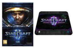 PC Starcraft 2 Wings of Liberty + SteelSeries QcK Starcraft 2 HotS Logo Edition