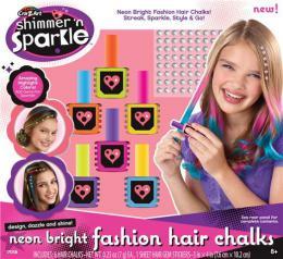 Set neonskih kreda za bojenje kose