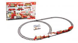 Voz na baterije Holiday Express sa zlatnom lokomotivom i 5 vagona