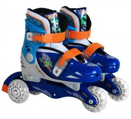 Roleri 2u1 hot Wheels 3 točka vel. 27-29