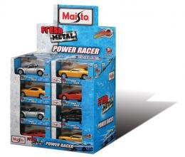 Metalni autić Power Racer 11 cm, pull back