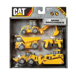 Građevinske mašine CAT Mini Machine 7 cm, 5 kom