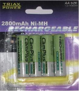TRIAXPOWER punjiva baterija AA 4x2800mAh