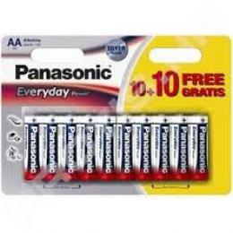 PANASONIC baterije LR6EPS20BW-AA 20 kom Alkalne Everyday