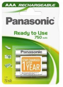 PANASONIC baterije HHR-4MVE4BC, 750mAh, punj. Ready to use
