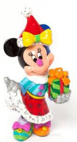 Minnie Mouse with Present Mini Figurine