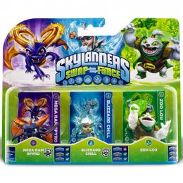 Skylanders SWAP Force Triple Pack B (Zoo Lou + Spyro + Chill)
