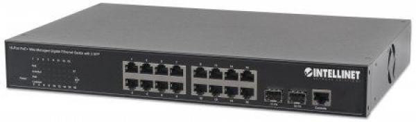 Intellinet switch web upravljivi,  GE, 16-portni PoE+
