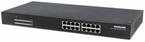 Intellinet switch neupravljivi, GE, 16-portni PoE+