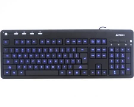 A4 TECH KD-126-1 X-Slim LED BlackLight USB US crna tastatura