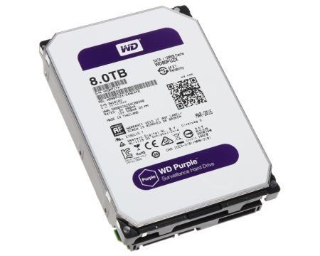 WD 8TB 3.5 SATA III 128MB 5400 WD80PUZX Purple