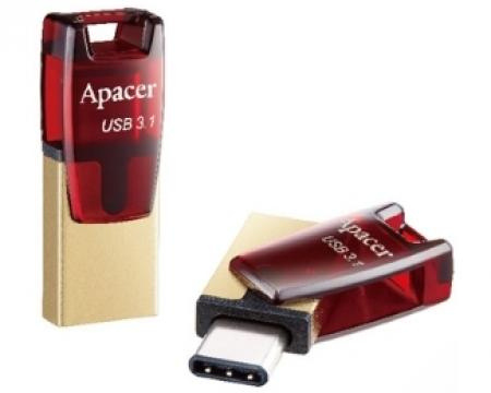 APACER 32GB AH180 USB 3.1 Tip C flash crveni