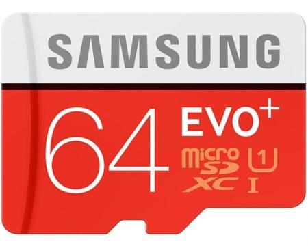 SAMSUNG EVO PLUS UHS-I MicroSDXC 64GB class 10 + Adapter MB-MC64DA