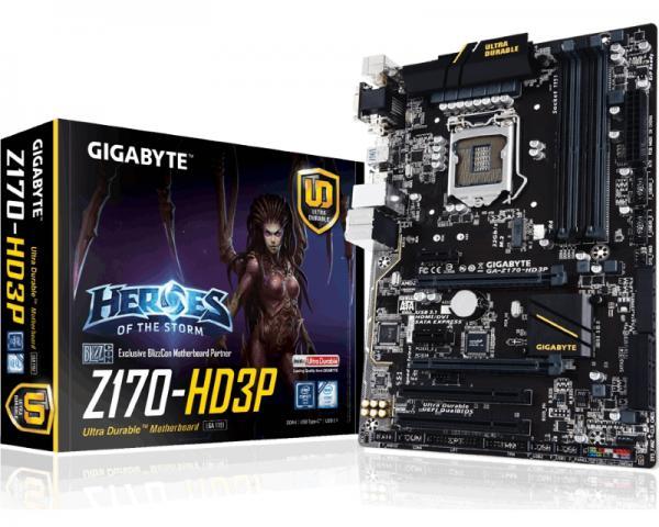 Gigabyte Intel MB GA-Z170-HD3P 1151
