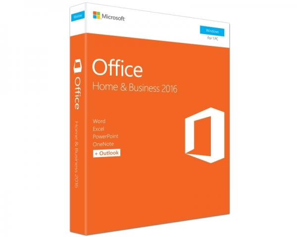 MICROSOFT Office 2016 FPP DVD P2 Home and Business 32bit/64bit T5D-02710