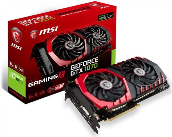 MSI nVidia GeForce GTX 1070 8GB 256bit GTX 1070 GAMING X 8G