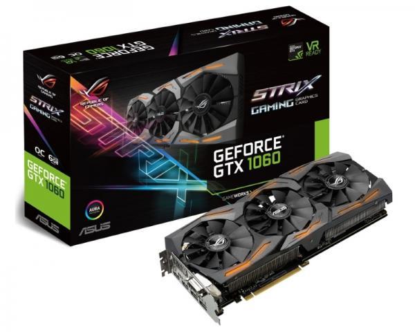 ASUS nVidia GeForce GTX 1060 6GB 192bit STRIX-GTX1060-O6G-GAMING