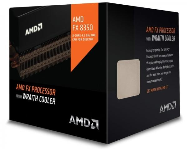 AMD FX-8350 8 cores 4.0GHz (4.2GHz) Black Edition Box with Wraith Cooler