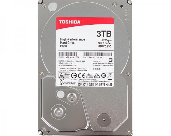 TOSHIBA 3TB 3.5 SATA III 64MB 7.200rpm HDWD130UZSVA P300 series bulk