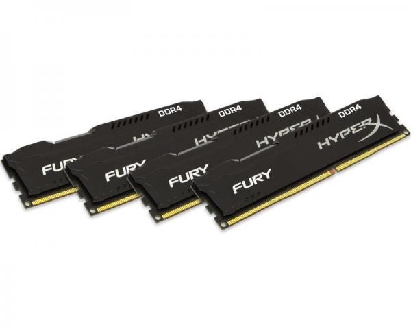 KINGSTON DIMM DDR4 64GB (4x16GB kit) 2400MHz HX424C15FBK4/64 HyperX Fury Black