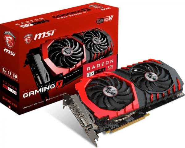 MSI AMD Radeon RX 470 8GB 256bit RX 470 GAMING X 8G