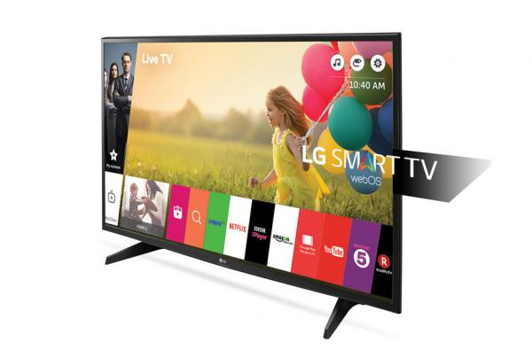 LG 43LH590V LED TV 43 Full HD, WebOS 3.0 SMART, T2, Metal/Black, Two pole stand