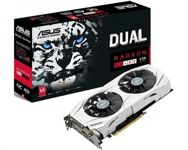 ASUS AMD Radeon RX 480 4GB 256bit DUAL-RX480-O4G