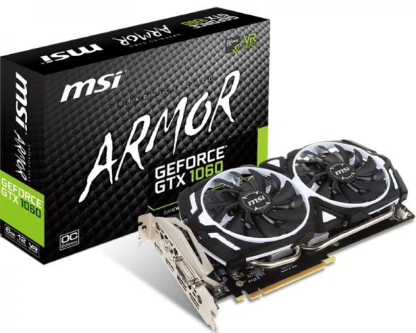 MSI nVidia GeForce GTX 1060 6GB 192bit GTX 1060 ARMOR 6G OCV1