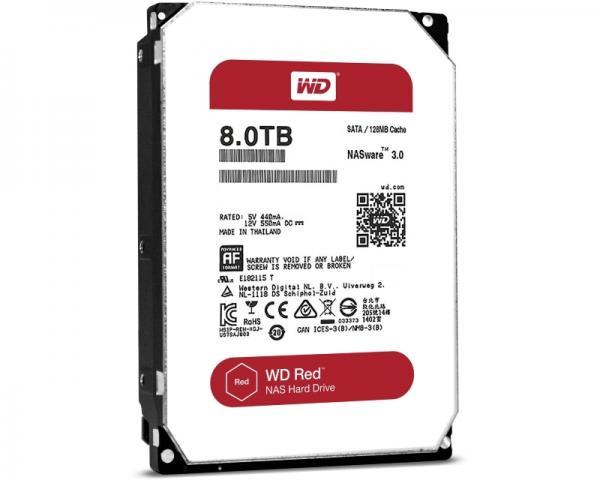 WD 8TB 3.5 SATA III 128MB 5400 WD80EFZX Red