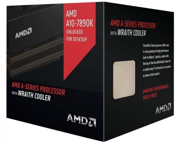 AMD A10-7890K 4 cores 4.1GHz (4.3GHz) Radeon R7 Black Edition Box with quiet Wraith cooler