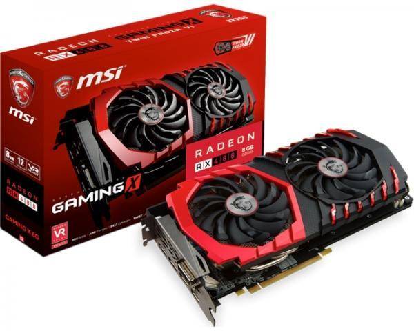 MSI AMD Radeon RX 480 8GB 256bit RX 480 GAMING X 8G