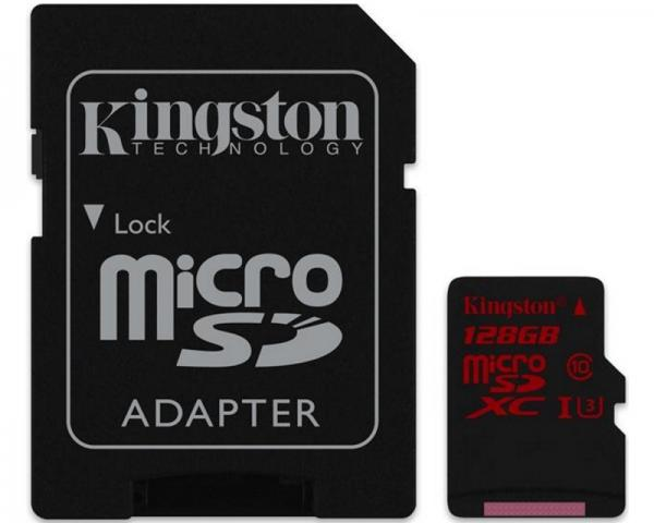 KINGSTON UHS-I U3 MicroSDXC 128GB + Adapter SDCA3/128GB