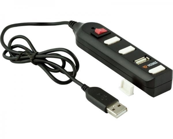 YENKEE YHB 4002BK 4port USB 2.0 Hub crni