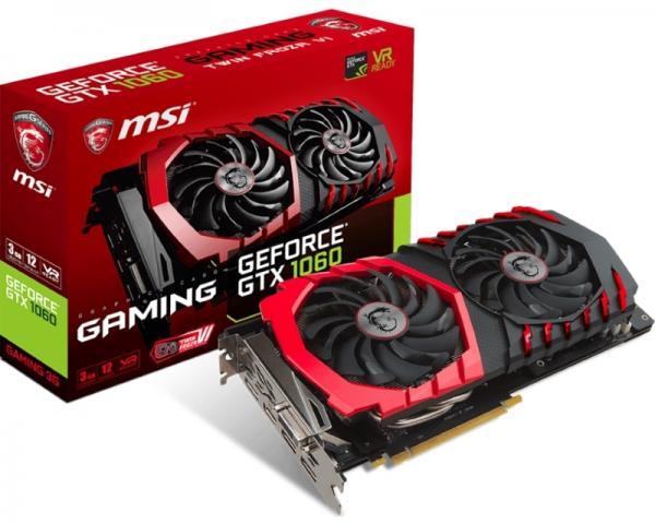 MSI nVidia GeForce GTX 1060 3GB 192bit GTX 1060 GAMING 3G