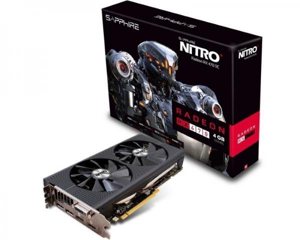 SAPPHIRE AMD Radeon RX 470 4GB 256bit NITRO+ RX 470 4G D5 (11256-01-20G)