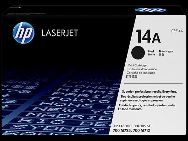 HP 14A Black LaserJet Toner Cartridge za M712n/M712dn/M725[CF214A]
