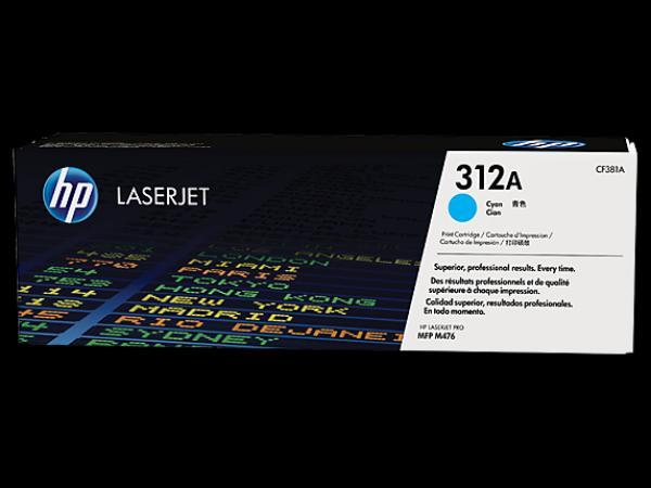 HP 312A Cyanl LaserJet Toner Cartridge za seriju M476 CF381A