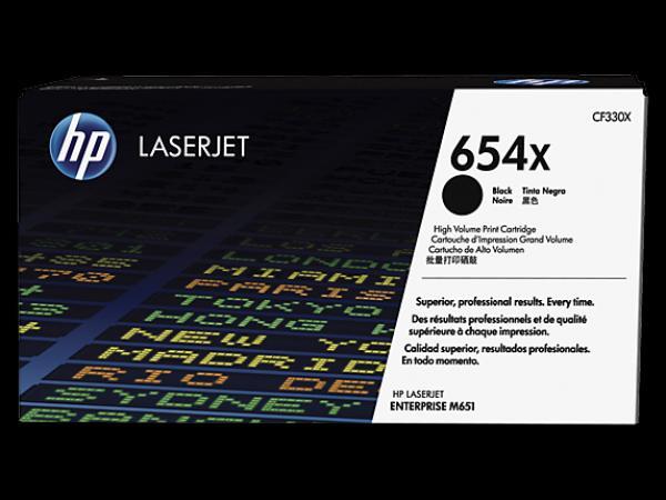 HP 654X Black LaserJet Toner Cartridge High Yield  za seriju M651/M680 CF330X