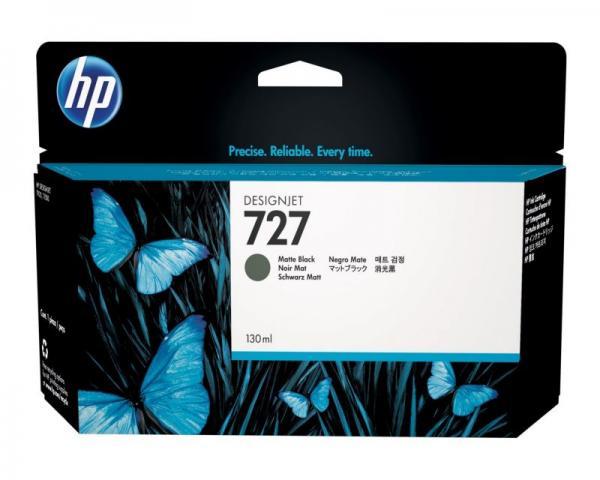 HP No. 727 130-ml Matte Black Designjet Ink Cartridge za T920/T1500 ePrinter series [B3P22A]