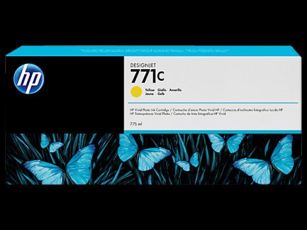 HP No. 771C 775-ml Yellow Designjet Ink Cartridge za Ploter Z6200 [B6Y10A]