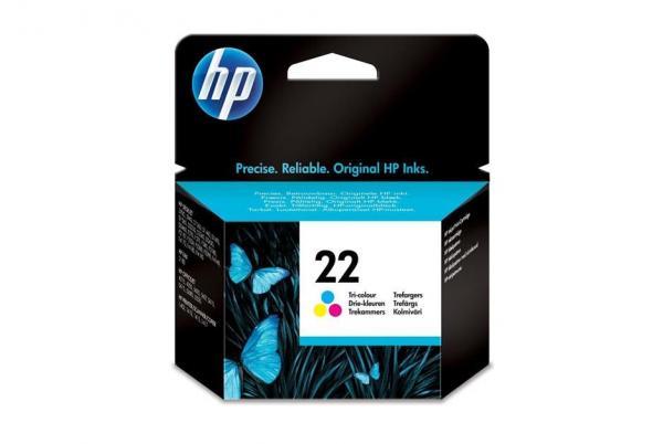 HP No.22 Inkjet Print Cartr.tri-colour (5 ml)  za DeskJet 3920/3940,psc1410,Off.J 5610 [C9352AE]