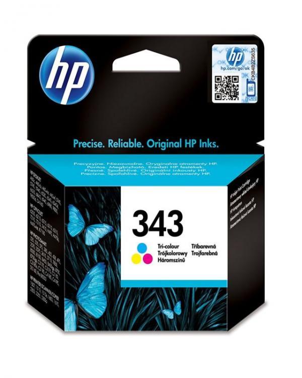 HP No.343 Color Cart. za psc1510/1610,DJ5740/460m/5940/8450/6540/6840,PhtS8050/2575 [C8766EE] (7ml)