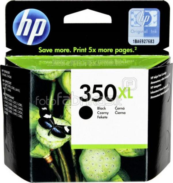 HP No.350XL Black Inkjet Print Cartridge with Vivera Ink [CB336EE]