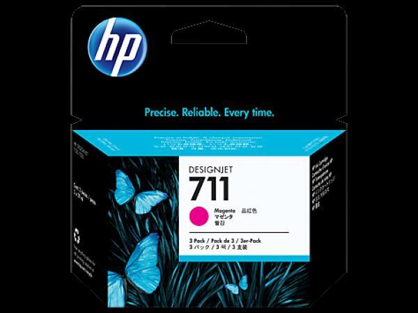HP No.711 3 pack 29ml Magenta Designjet Ink Cartridge [CZ135A] za plotere T120/ T520
