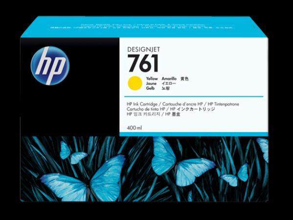 HP No.761 400-ml Yellow Designjet Ink Cartridge za Ploter T7100 [CM992A]