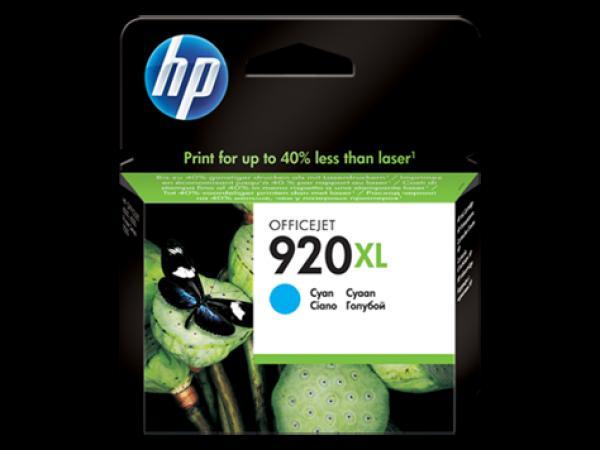 HP No.920XL Cyan Officejet Ink Cartridge, for Officejet 6500 [CD972AE]