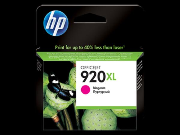 HP No.920XL Magenta Officejet Ink Cartridge, for Officejet 6500 [CD973AE]