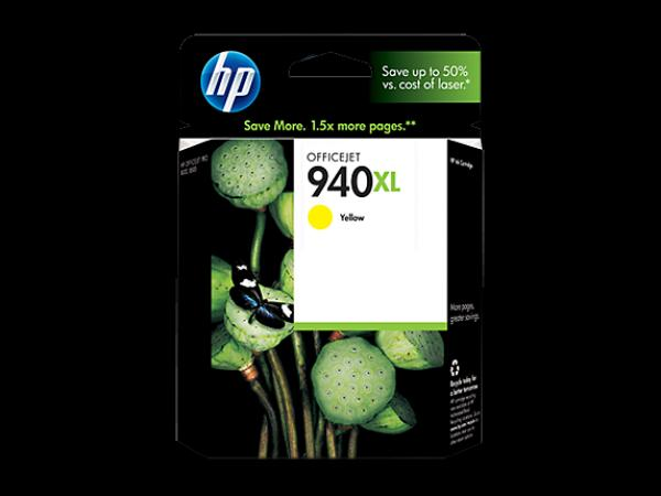 HP No.940XL Yellow Officejet Ink Cartridge, for Officejet Pro 8000/8500 [C4909AE]